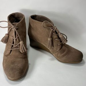 Dr. scholl's 'Kennedy' Brown wedge ankle booties